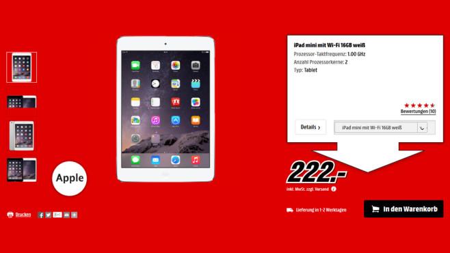 Apple iPad mini 16GB WiFi ©Media Markt