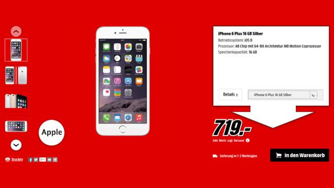 Apple iPhone 6 Plus ©Media Markt