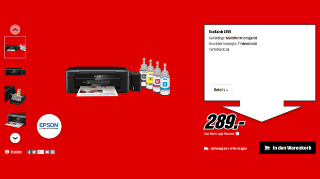 Epson L355 ©Media Markt
