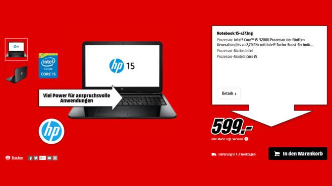 HP 15-r273ng ©Media Markt