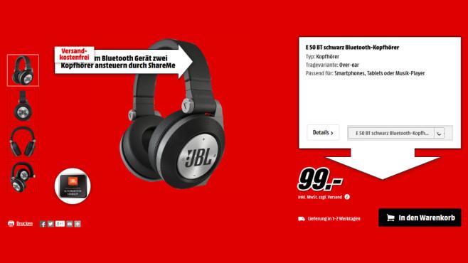 JBL E50 BT ©Media Markt