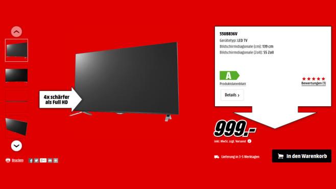LG 55UB836V ©Media Markt
