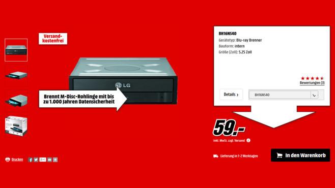 LG BH16NS40 ©Media Markt