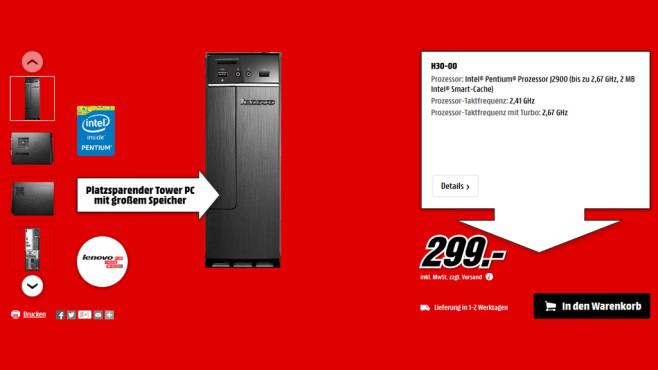 Lenovo H30-00 ©Media Markt