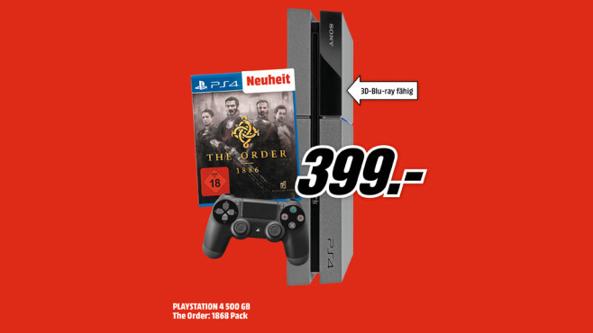 "PlayStation 4 + ""The Order – 1886"" © Media Markt"