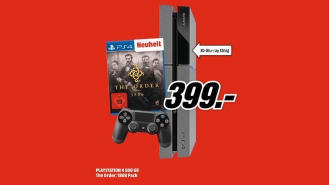 """PlayStation 4 + """"The Order – 1886"""" ©Media Markt"""