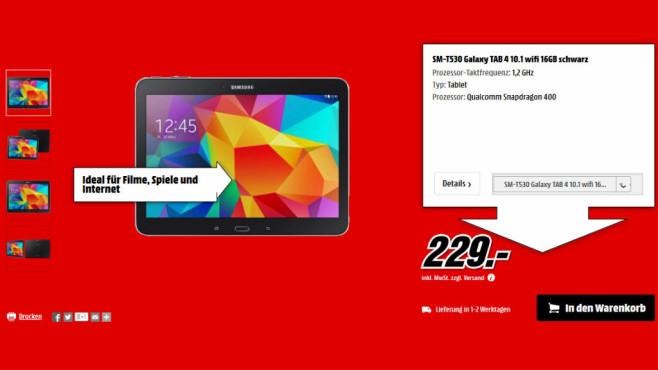 Samsung Galaxy Tab 4 (10.1) 16GB WiFi ©Media Markt