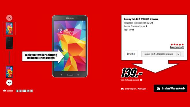 Samsung Galaxy Tab 4 (7.0) 8GB WiFi ©Media Markt
