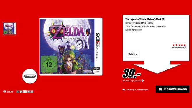 The Legend of Zelda: Majora's Mask 3D ©Media Markt