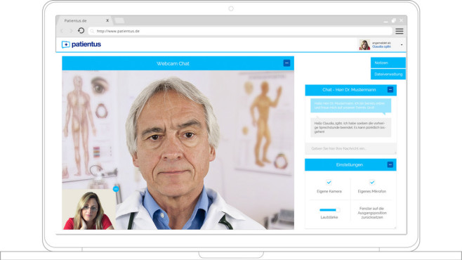 Patientus im Browser © Patientus