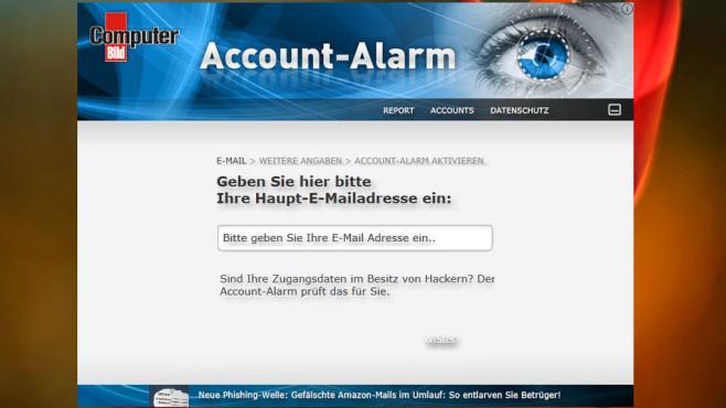 Platz 47: COMPUTER BILD-Account-Alarm (neu) ©COMPUTER BILD