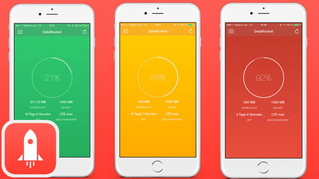 DataRocket – Datenverbrauchs-Widget ©Fabian Tinsz