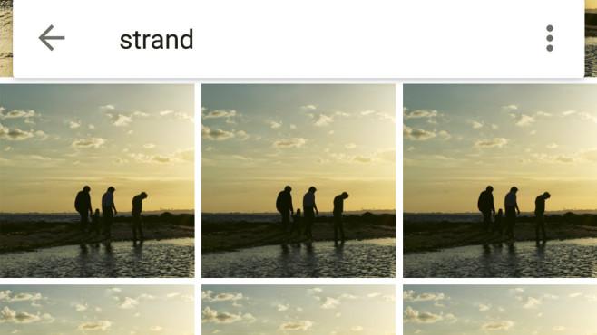 Google Fotos: intelligente Suchfunktion ©COMPUTER BILD