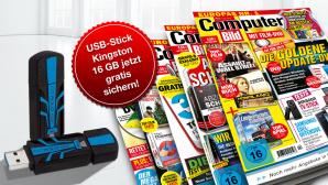 Sichern Sie sich jetzt einen gratis USB-Stick von Kingston ©COMPUTER BILD, Kingston, kantver – Fotolia.com