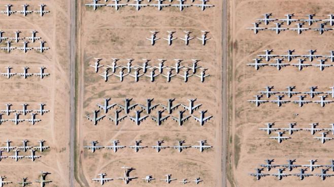 Flugzeug-Friedhof in Arizona/USA ©COMPUTER BILD