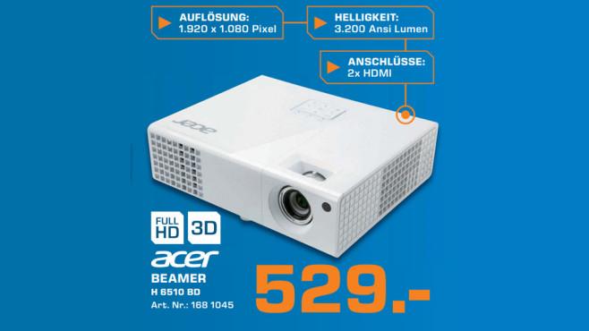 Beamer: Acer H6510BD ©Saturn