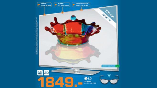 Fernseher: LG 70LB650V ©Saturn