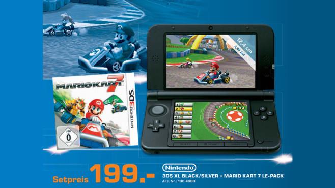 Handheld: Nintendo 3DS + Mario Kart 7 ©Saturn