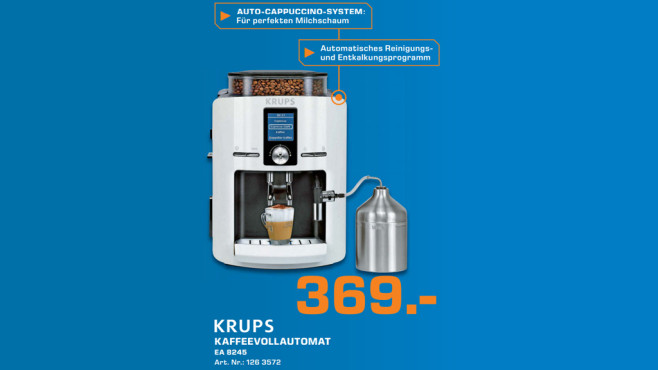 Kaffeeautomat: Krups EA 8245 ©Saturn