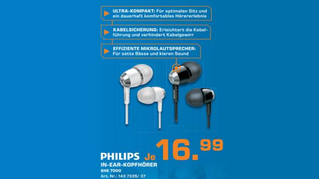 Kopfh�rer: Philips SHE7000 ©Saturn