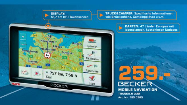 Navigationsger�t: Becker Transit.5 LMU ©Saturn