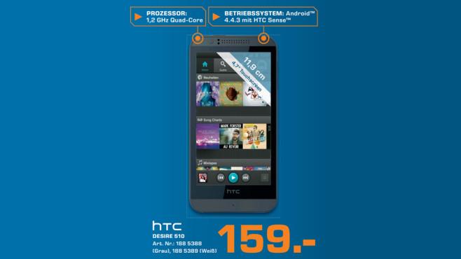 Smartphone: HTC Desire 510 ©Saturn