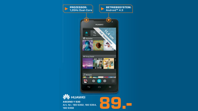 Smartphone:  Huawei Ascend Y530 © Saturn