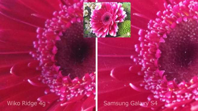 Fotovergleich Wiko Ridge 4G und Samsung Galaxy S4 ©COMPUTER BILD