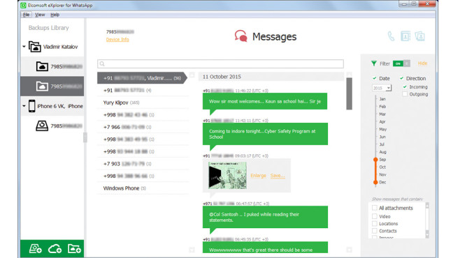 Elcomsoft Explorer for WhatsApp © Elcomsoft