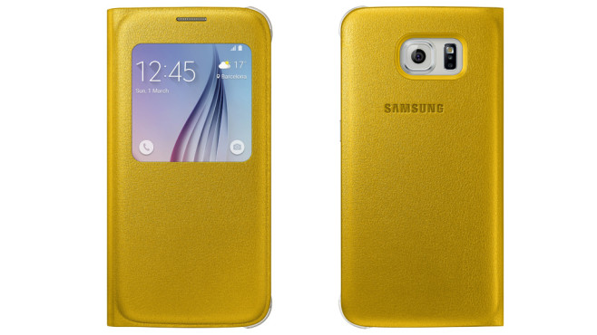 Galaxy S6: S View Cover Leder © Samsung