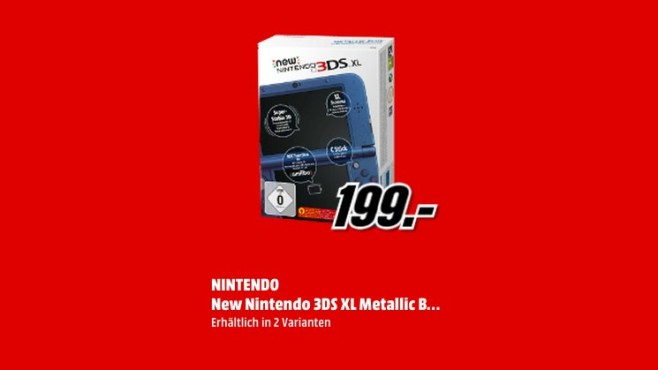Nintendo New 3DS XL © Media Markt