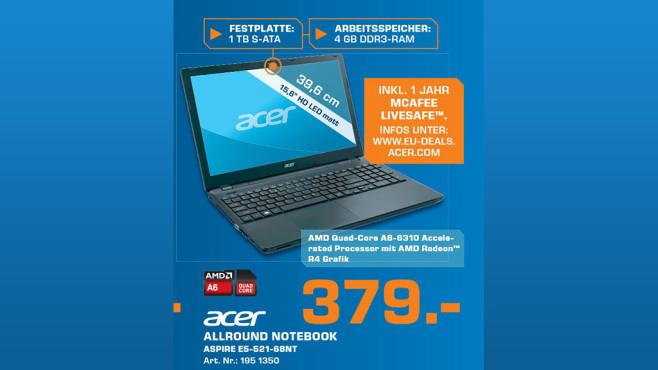 Acer Aspire E5-521-68NT ©Saturn