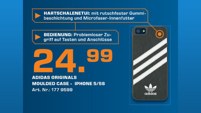 Adidas Back Case Black (iPhone 5/5S) © Saturn