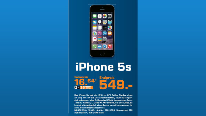 Apple iPhone 5S 16GB © Saturn