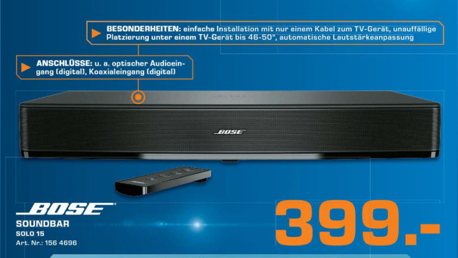 Bose Solo 15 TV Sound System © Saturn