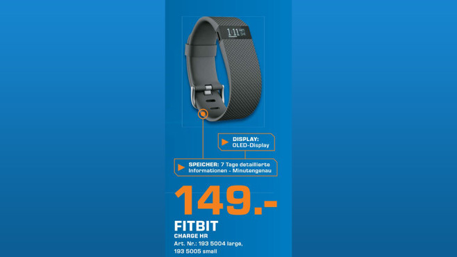 Fitbit Charge HR © Saturn