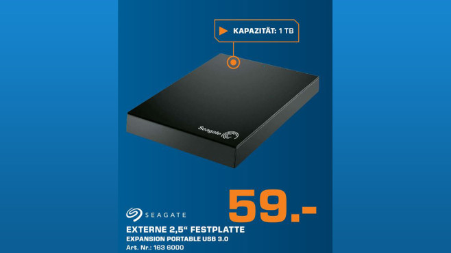 Seagate Expansion Portable USB 3.0 2TB © Saturn