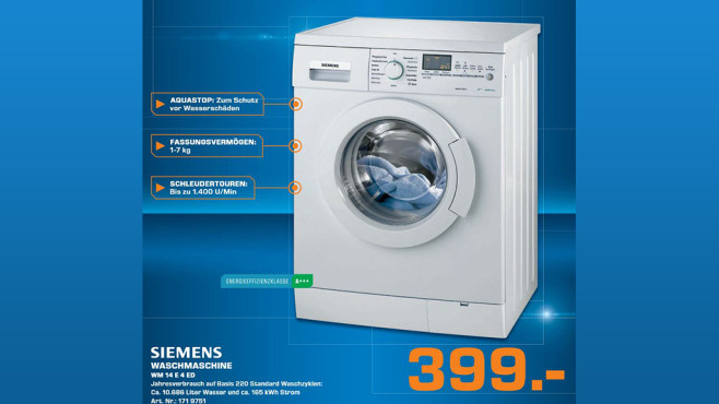 Siemens WM14E4ED ©Saturn