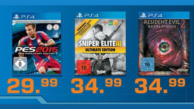 Spiele für PS4 ©Saturn