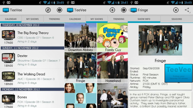 TeeVee Shows and Series Guide © Xenops