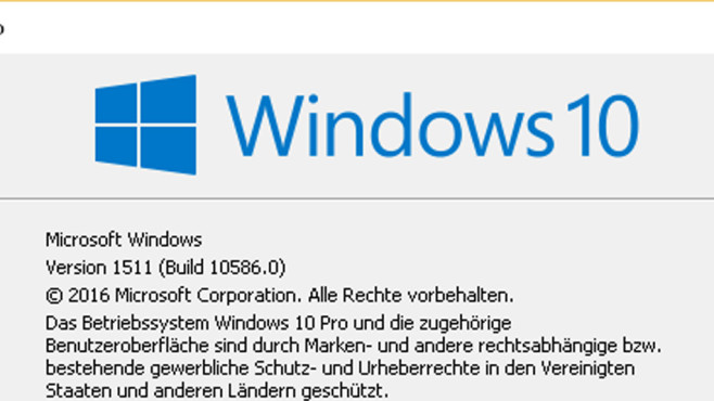 Windows 10: Insider Preview (Build 10586) © COMPUTER BILD
