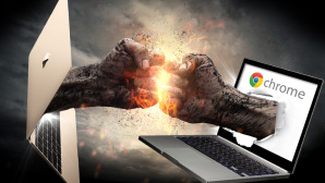 MacBook vs. Chromebook © Przemyslaw Koch - Fotolia.com, peshkova - Fotolia.com, Apple, Google