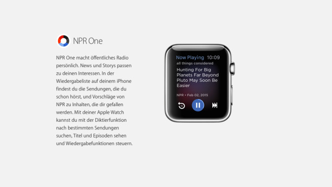 NPR One © Apple