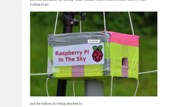In The Sky: Der Raspberry Pi hebt ab © Dave Akerman – Screenshot