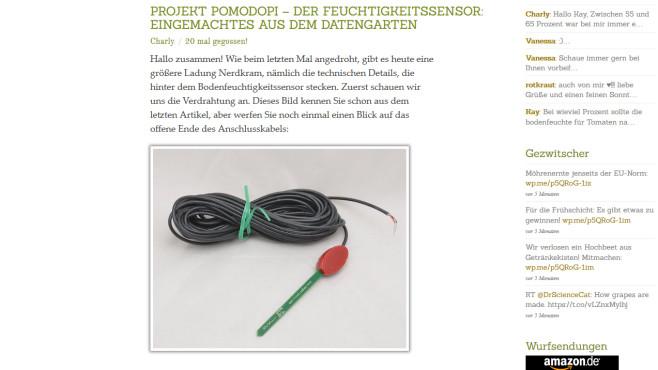 PomodoPi: Gärtnern für Nerds ©pi-buch.info – Screenshot