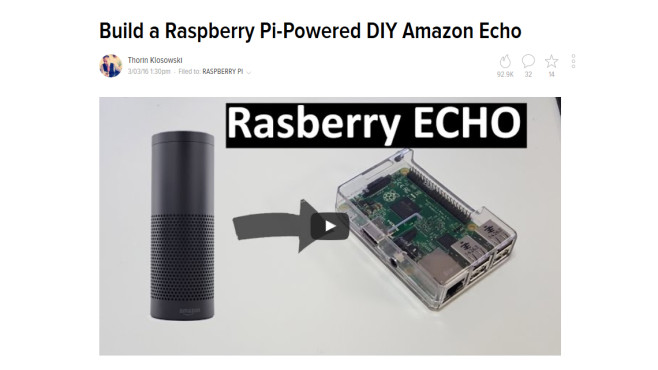 Raspberry Echo: Amazon Echo im Eigenbau © Novaspirit Tech via YouTube – Screenshot