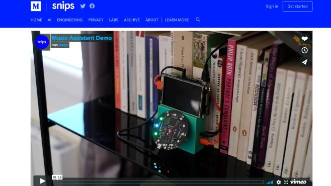 Smarter Lautsprecher ©Screenshot – Snips Blog