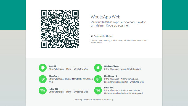 WhatsApp Web mit dem Raspberry Pi nutzen © WhatsApp/Screenshot