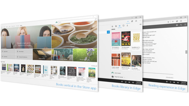 Creators Update: eBooks in Windows 10 © Microsoft