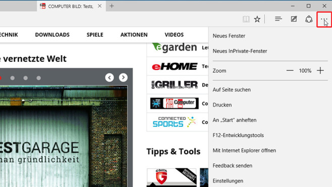 Microsoft Edge: Der Windows-10-Browser im Überblick © COMPUTER BILD